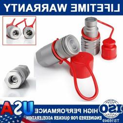 """1/2""""NPT Flat Face Hydraulic Quick Coupler Connect Coupling S"""