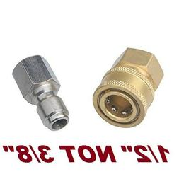 """1/2"""" Pressure Washer Hose Adapter Quick Disconnect Connect S"""
