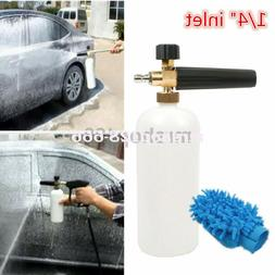 "1/4"" Snow Foam Lance Cannon Washer Gun Soap Bottle Pressure"