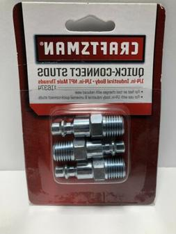 Craftsman 1/4 Inch Quick-Connect and Disconnect Studs Thread