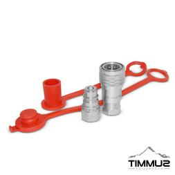 """1/4"""" NPT ISO 5675 Ag Hydraulic Quick Connect Pioneer Style"""