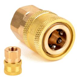 "1/4"" NPT Brass Quick Connect Coupler For Pressure Washer ID"