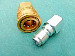 """1/4"""" Quick Connect Fittings 1-Socket 1-Plug Pressure Washer"""