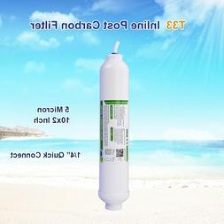 """1/4"""" Quick Connect Inline Carbon Water Filter T33 Compatible"""