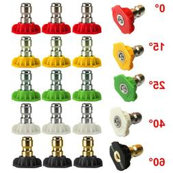 1-5PCS Pressure Washer Spray Nozzle Tips 1/4 Quick Connect D