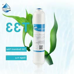 """1 Inline Post Carbon Filter 2"""" X 10"""" Quick Connect RO Water,"""