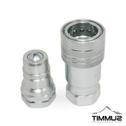 """1"""" NPT Ag Hydraulic Quick Connect Pioneer Style Coupler Se"""
