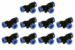 "10 Piece Pneumatic Air Quick Push to Connect Fitting 1/4"" OD"