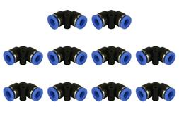 """10 Piece Pneumatic Air Quick Push to Connect Fitting 1/4"""" OD"""