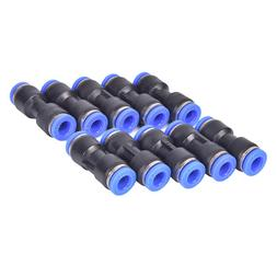 "10pcs 6mm Pneumatic air quick push to connect fitting 1/4"" O"