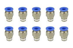"10x TEMCo Pneumatic Air Quick Push to Connect Fitting 1/4"" N"