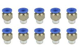 """10x TEMCo Pneumatic Air Quick Push to Connect Fitting 1/8"""" N"""
