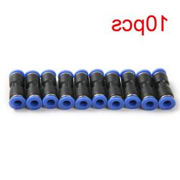 "10x Pneumatic Air Quick Push to Connect Fitting 1/4"" OD Stra"