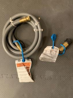 12 Feet 1/2 Inch ID Natural Gas Grill Hose Quick Connect Fit