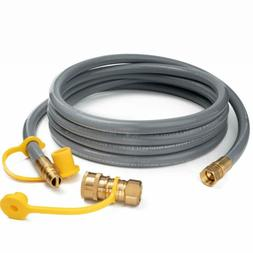 GASPRO 12FT Natural Gas Hose with Quick Connect Fittings, 3/