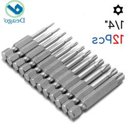 12pcs/set Hex Key Allen Bit Set Quick Connect Long impact dr