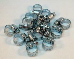 "15 Pcs Stainless Steel Drive Hose Clamps  Worm Clips 3/8""-1/"