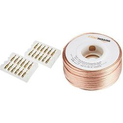 AmazonBasics 16-Gauge Speaker Wire  and 24k Gold Connector B