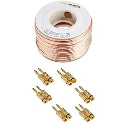 AmazonBasics 16-Gauge Speaker Wire - 50 Feet and AmazonBasic