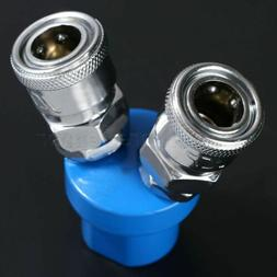 "1pc 2 Way 1/4"" NPT Y Shaped Quick Fitting Connect Coupler To"