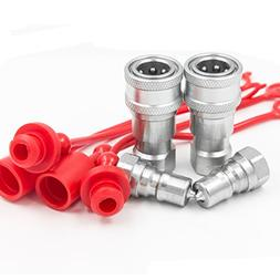 """2 Sets 1/4"""" NPT Thread ISO-B Hydraulic Quick Disconnect Coup"""
