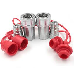"""2 Sets of 1/2"""" NPT Hydraulic Quick Connect Couplings Ball Fi"""