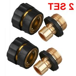 2 Pairs Universal Garden Hose Quick Connect Set Pipe Hose Ta