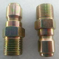 2- Pressure Power Washer Quick Connect Plug 3/8 in MPT x 3/8