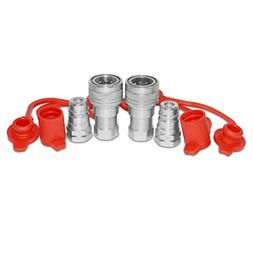 "2 Sets of 3/8"" NPT Ag Hydraulic Quick Connect Pioneer Styl"