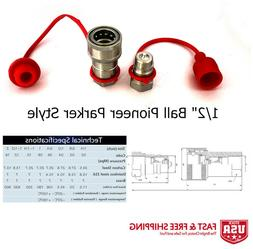"""2 Sets 1/2"""" Ag Hydraulic Quick Connect Couplers Couplings, P"""