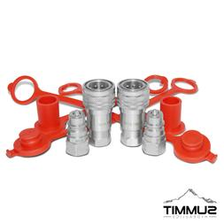 """2 Sets of 3/8"""" SAE  Ag Hydraulic Quick Connect Pioneer Style"""