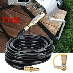 20 ft Propane Hose w/1/4 Inch ON / OFF Quick Connect Disconn