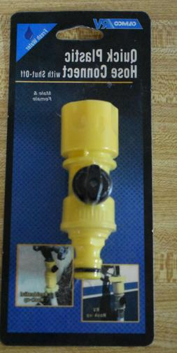 Camco 20103 Quick Hose Connect with Shutoff Valve