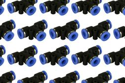 "25 Piece Pneumatic Air Quick Push to Connect Fitting 1/4"" OD"