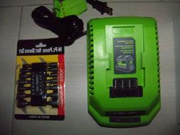 GREENWORKS 29482 Series 40V Lithium-Ion Battery Charger   NE