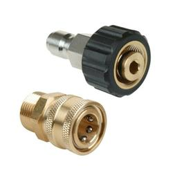 2Pcs Pressure Washer Quick Connect Adapter Connector M22 14m