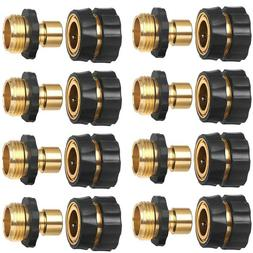 3/4' Garden Hose Quick Connect Water Hose Fit Brass Female M