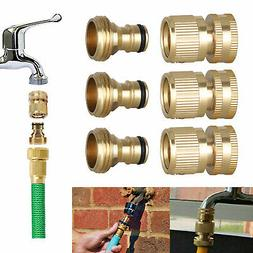 "3/4"" Garden Water Hose Quick Connector Fit Brass Male Female"