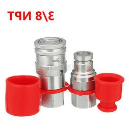 """3/8"""" Flat Face Hydraulic Quick Connect Coupler Coupling Set"""
