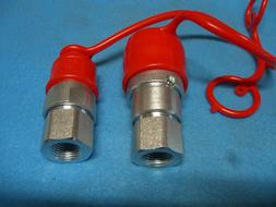 """3/8"""" Flat Face Hydraulic Quick Connect Coupler / Coupling Se"""