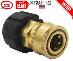 3/8 Inch Quick Connect NPT To M22 14mm Metric Fitting For Hi