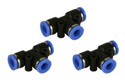 "3 Piece Pneumatic Air Quick Push to Connect Fitting 1/4"" OD"