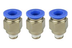"3x TEMCo Pneumatic Air Quick Push to Connect Fitting 1/8"" NP"