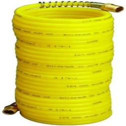 "Amflo 4-25E-RET Yellow 200 PSI Nylon Recoil Air Hose 1/4"" x"