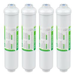 4 Pack Inline Post Carbon Water Filter Purifier Quick Connec