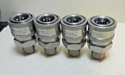 """Legacy, Power P. Washer Fitting 3/8"""" MPT Male 3/8 Stainless"""