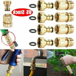 "4 Sets 3/4"" Garden Hose Quick Connect Water Hose Fit Brass F"