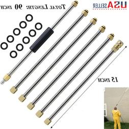 4000PSI 90Inch Pressure Washer Extension Wand Set Replacemen