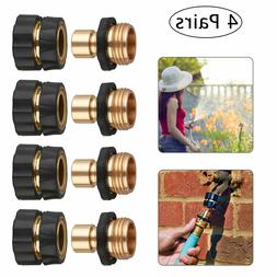 4 Pairs Garden Water Hose Tap Quick Connect Set Pressure Was