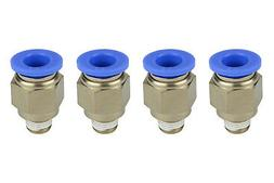 """4x TEMCo Pneumatic Air Quick Push to Connect Fitting 1/8"""" NP"""